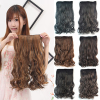 Wholesale Synthetic Clip In Hair Extension One Piece Clip In Hair Clips Hairpiece