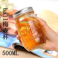 ball mason jar - DHL ml Mason Jar America Popular Mason Jar for Honey Fruits Salad Jam Round Glass Mason Ball