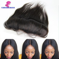 Wholesale 8A Cheap Peruvian Lace Frontal Closure Human Hair x2 Bleached Knots Virgin Straight Full Lace Frontal Pieces Fast Shipping