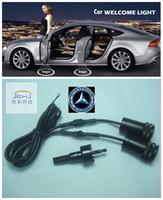 Wholesale For Mercedes LED Car door welcome light courtesy led car laser projector Logo Ghost Shadow Light For Mercedes Benz logo