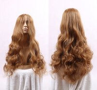 ariel wig - New Fashion cm Long Heat Resistant Brown Synthetic Hair Little Mermaid Ariel Cosplay Wig Party Wigs