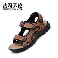ankle walking - 2016 Guciheaven comfortable C660038 Men s Beach Sandals Upstream Outdoor Sports Shoes khaki brown Breathable Walking Shoes
