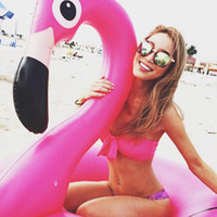 Wholesale 120cm Pool Raft Pink Flamingo Pool Float Inflatable Swimming Ring Floating Bed Lounge Chair For Kids Adult