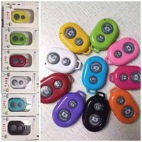 Wholesale 2016 Camera Bluetooth Remote Control Shutter for Monopod Self timer Selfie Stick FOR all android ios cell phones iphone s plus ipad