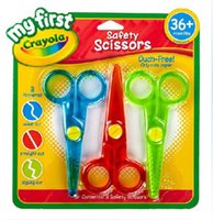 Wholesale Crayola Blunt Tip Scissors shears clippers Right Left Handed Comfort Grip Gift A18