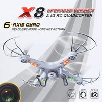 Wholesale BAYANGTOYS X8 UFO RC Helicopter Channel Axis Gyro Quadcopter G RC Mini Drone with MP HD Camera compare with Syma X5C y