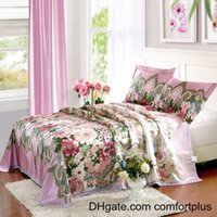 Wholesale HOT New Style Cool Ice Silk Summer Sleeping Mat with Pillow Case Full Queen Size Bedding Supplies