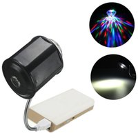 Wholesale Hot Sale W In USB LED Light Interface RGB LED Stage Light DJ Disco KTV Party Flexible Crystal Ball Effect Lamp DC5V