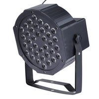 Wholesale New W LED Flat Par Light Stage Lamp with US or EU PLug Colorful Romantic Party Stage DJ Lighting Auto Sound Operation