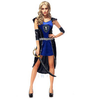 ancient greek games - Halloween Ancient Greek Ares Female Warrior Goddess Game Uniforms Cosplay Party Dancer DS Nightclub Costume Stage Wear