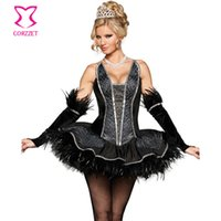 adult clothing stores - Lolita Style Plus Size Adult Black Swan Costume Women Princess Dress Sexy Carnival Costumes For Halloween Cosplay Clothing Store