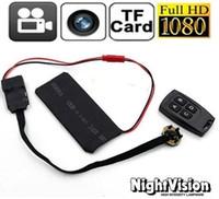 T6 HD 1080P visión nocturna bricolaje módulo de la cámara espía Mini videocámara ocultada DV DVR Micro Seguridad para el Hogar Camea Monitor + remoto inalámbrico