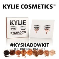 Wholesale Pre sale hot new kylie Kyshadow pressed powder eye shadow palette the Bronze Palette Kyshadow Kit Kylie Cosmetic colors DHL Free