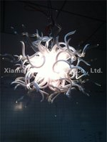 art glass chandelier for sale - Modern White Blown Glass Chandelier Light for Sale Bedroom Decor Dale Chihuly Style Art Glass Ceiling Pendant Lamps