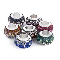 Nuevos de la manera 5pcs / lot de la joyería que hace cristalino magnífico Checa Rondelle europea apta encanto de la pulsera DIY
