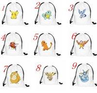 baggu leather - Emoji Face Poke Drawstring Backpack Pocket Shopping Bag Fashion Monster Storage Bag Poke Pikachu Organizer Baggu Poke Ball Gifts Sack Bag