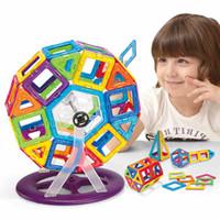 Wholesale Kids Toys Enlighten Bricks Educational Magnetic Designer Toy Square Triangle Hexagonal D DIY Building Blocks