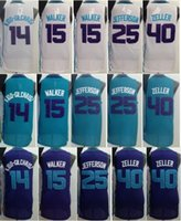 al cotton - Best Quality Kemba Walker Al Jefferson Jersey Michael Kidd Gilchrist Shirt Uniform Cody Zeller Home Road Away Purple Green White