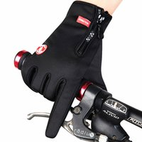 Wholesale ycling Equipment Cycling Gloves Winter Glove Cycling Magic Touchscreen Gloves Full finger gloves Keep warm Black Unisex High quality WOLF