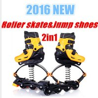 Wholesale New Kangoo Jumping Shoes in1 Roller Skate Bounce Shoes Kids Teenager Adults Outdoor Sports Fitness Shoe DHL