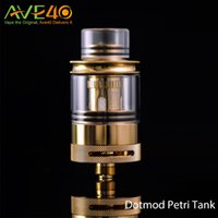Cheap Original Vaporizer Dotmod RTA Tank 1.9ML Petri Rebuildable Atomizers 22mm Diameter With 24K Gold-Plated Postless Floating Deck Fit 510 Mod