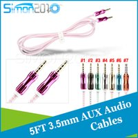 Cheap Metal 3.5mm jack port Auxiliary cable tranparent crystal cords Gold-plated aux line for TV, PC, DVD, VCD, MP3