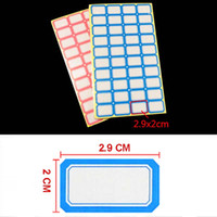 Wholesale Convenient Red Blue Color Price Sticker Adhesive Paper Self adhesive Label Price Tag Price Label Sticky Stationery