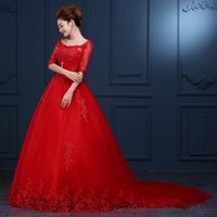 big picture photography - 2016 The New High grade Red Studio Theme Wedding Photography Trailing Word Shoulder Wedding Dress Big Yards Winter B