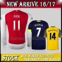 Wholesale TOP new Arsenal Away home RD Jerseys WILSHERE OZIL WALCOTT RAMSEY ALEXIS long sleeve shirt customized name number