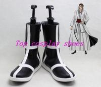 aizen cosplay - Bleach Cosplay Aizen Sousuke Arrancar s Black Cool cos Cosplay Boots Shoes shoe boot short ver YJZ31