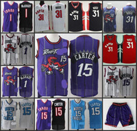 Wholesale A High Quality new arrival Toronto North Carolina Vince Carter Tracy McGrady Terrence Ross jersey for mens