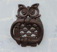 Wholesale 2 Pieces Rustic Cast Iron Owl Decorative Door Knocker Traditional Vintage Style