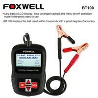 agm battery tester - FOXWELL BT100 V Car Battery Tester for Flooded AGM GEL attery Analyzer Diagnostic Tester Tool Test Cable