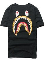 Wholesale Men s popular printed shark head man short sleeve T shirt new spring and summer of men and women couple costume d