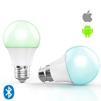 Wholesale The new creative W intelligent mobile phone LED APP wireless Bluetooth control bulb E27 ball bubble lamp
