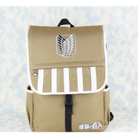 attack on titan bag - 2016 New Back to School Attack On Titan Training Investigation Corps waterproof backpack school bags