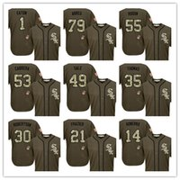 baseball polo - Olive Salute To Service Limited Tank Top Jersey poloshirt Tshirt chicago thomas Baseball Jersey Cheap Rugby ABREU CABRARE SALEFRAZIER