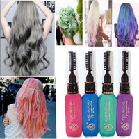 Wholesale Hot New Colors Gray Hair Color Professional Highlights Streaks Temporary Hair Color Spray Blue Hair Color Dry Cream
