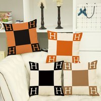 Wholesale The new plaid linen pillow cover cushion cover cushion