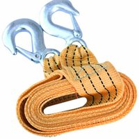 Wholesale Tons Car Tow Cable Towing Strap Rope with Hooks for Emergency Heavy Duty CM Car Accessoreis