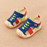 Wholesale Top Brand Baby Boys Sandals Summer Toddler Soft Leather Sole Sandals Shoes For Girls Infant Baby Antiskid Sandals Prewalker
