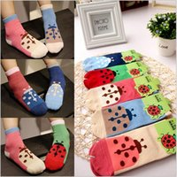 beetle cottons - The new South Korean cartoon cotton children socks Beetle boy and girl in tube socks medium and small children socks