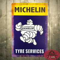 Wholesale Reproduction Michelin Tire Man Service Station Metal Sign RUSTIC TIN SIGN x cm