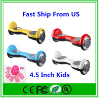 bicycle stocks - US Stock Self Balancing Kids Hoverboard Scooter Wheel Electric Bicycle Smart Balance For Children Carry Full set of protective gears