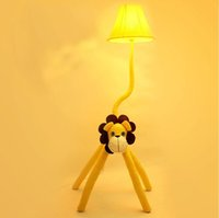 Wholesale wbuj children s room cartoon garden floor lamp bedroom living room lamp bedside lamp a small table lamp lion cloth