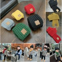 Wholesale NEW Lovely Kids Long Boy And Girl Scraf Cotton Warm Classical Plain Design Fashion Red Yellow Black Grey White6 Colors Styles craves