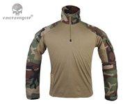 Cheap G3 Combat T-shirt Military BDU Army Airsoft Tactical Gear Paintball Hunting Running Shirt EM9278 Woodland WL