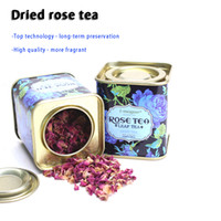 Wholesale Top quality Dried roses tea Scented flower tea Anti aging and beauty Organic Anti Aging slimming tea Canned packaging g
