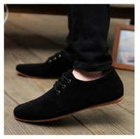 autumn drive - 2017 NEW EUR Hot Sale Spring Autumn Fashion Men Shoes Mens Flats Casual Suede Shoes Comfortable Breathable Flats Driving Loafers