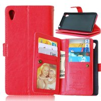 aqua card - Hot Sale Retro Wallet Case For Sony Xperia Z3 Z4 C5 Z5 Premium Plus M4 Aqua Kickstand Cover With Card Slot Holder Pocket New Arrival Pouch
